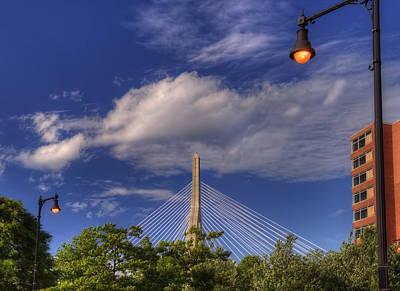 Zakim Bridge Photograph - Leonard P Zakim Bridge - Boston by Joann Vitali