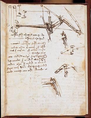Leonardo Da Vinci, Codex On The Flight Art Print