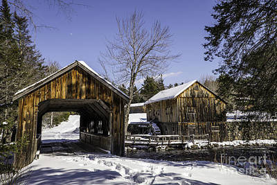 Photograph - Leonards Mills Covered Bridge Landscape by Glenn Gordon