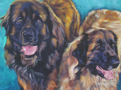 Painting - Leonberger Pair by Lee Ann Shepard