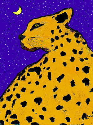 Painting - Leopard At Midnight by Dale Moses