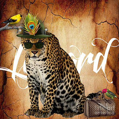 Leopard Collection Art Print