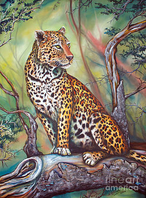 Leopard Art Print by Nicole O'Connor