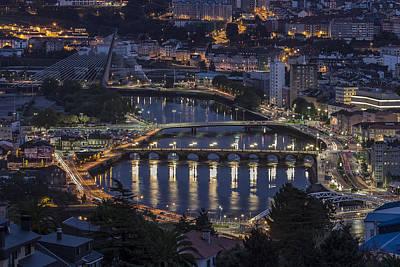 Print featuring the photograph Lerez River Pontevedra Galicia Spain by Pablo Avanzini