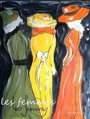 Painting - Les Femmes by Jacqui Hawk
