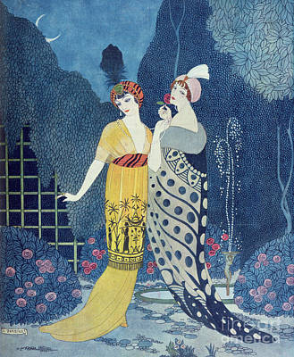 Paris Wall Art - Painting - Les Modes by Georges Barbier