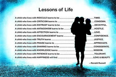 Lessons Of Life Art Print