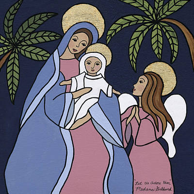 Nativity Painting - Let Us Adore Him by Medana Gabbard