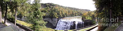 Photograph - Letchworth State Park Middle Falls Panorama by Rose Santuci-Sofranko