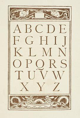 Letters Of The Alphabet Art Print
