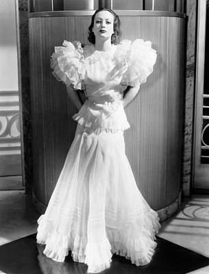 Puffed Sleeves Photograph - Letty Lynton, Joan Crawford, In A Gown by Everett
