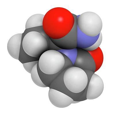 Bipolar Photograph - Levetiracetam Epilepsy Drug Molecule by Molekuul