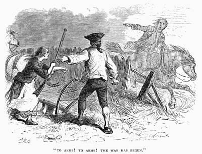 Lexington: Minutemen, 1775 Art Print by Granger