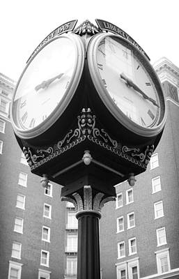 Photograph - Liberty Mutual Clock by Kelly Hazel