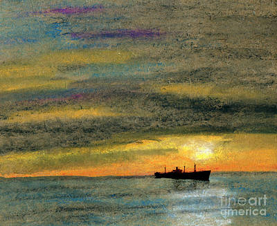 Tramp Steamer Painting - Liberty by R Kyllo
