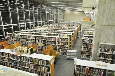 Textbook Photograph - Library Interior by Photostock-israel