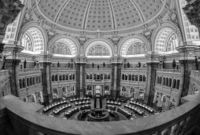 Photograph - Library Of Congress Main Reading Room by Susan Candelario