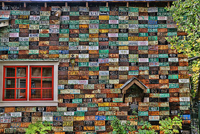 Artistic License Photograph - License Plate Siding by Allen Beatty