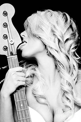 Nude Woman Guitar Photograph - Lick by Jt PhotoDesign