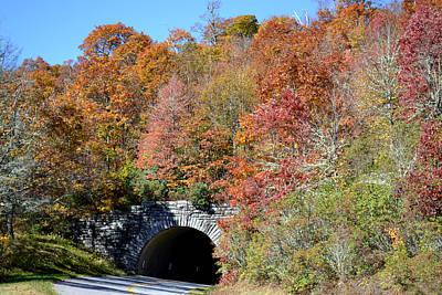 Photograph - Lickstone Ridge Tunnel Blue Ridge Parkway by rd Erickson