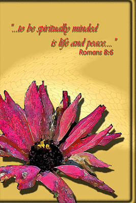 Life And Peace Art Print by Larry Bishop