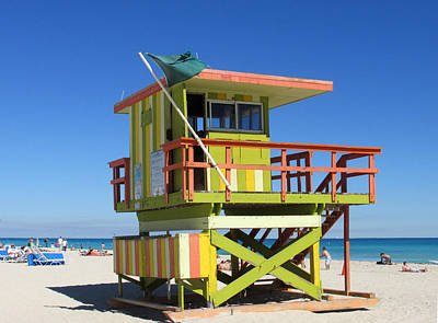 Lifeguard Stand Art Print by Rosie Brown