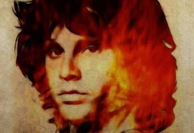 Famous Songs Digital Art - Light My Fire by Steve K