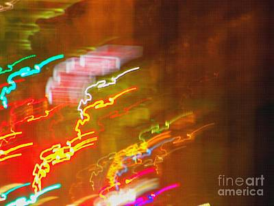 Light Painting - Paris - France  Art Print by Francoise Leandre