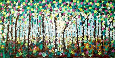 Painting - Light Through The Forest by Shirley Smith