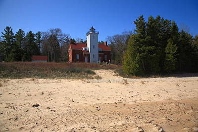 Photograph - Lighthouse - 40 Mile Point Michigan 4 by Frank Romeo