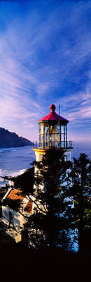 Lighthouse At A Coast, Heceta Head Art Print