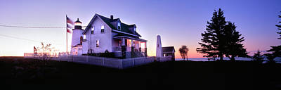 Maine Nature Photograph - Lighthouse At A Coast, Pemaquid Point by Panoramic Images