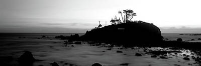 Lighthouse On A Hill, Battery Point Art Print by Panoramic Images