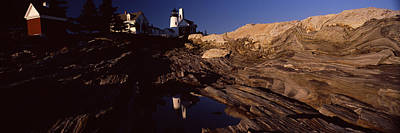 Maine Mountains Photograph - Lighthouse On The Coast, Pemaquid Point by Panoramic Images