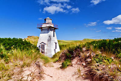 Lighthouse On The Dunes Art Print by Dan Dooley