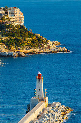 Lighthouse On The Riviera Art Print by Sarit Sotangkur