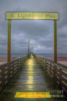 Photograph - Lighthouse Pier by Maddalena McDonald