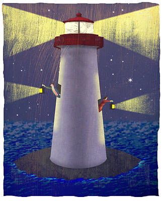 Lantern Digital Art - Lighthouse by Steve Dininno