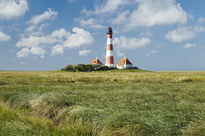 Lighthouse Westerhever And Foreshore Art Print