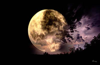 Lightning Moon Original by Andrea Lawrence