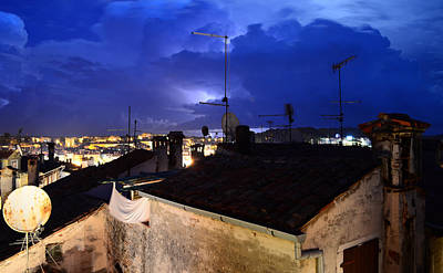 Photograph - Lightning Over Rovinj by Barbara Walsh