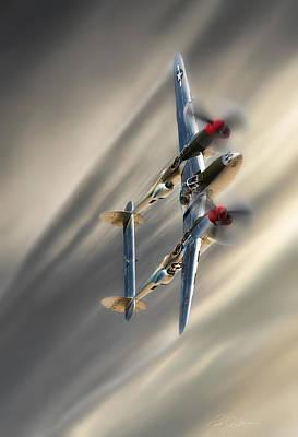 Lightning Digital Art - Lightning Speed by Peter Chilelli