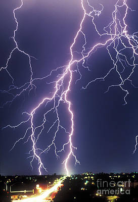Photograph - Lightning Strikes by John A Ey III