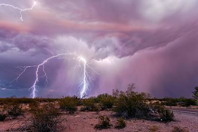 Lightning Bolts Photograph - Lightning Strikes by Roger Hill