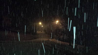 Snowfall Photograph - Lights In A Blizzard by Kenny Glover
