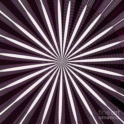 Navinjoshi Mixed Media - Lights N Shades Purple N White Stripe Abstract Art For Dark Rooms And Corridors Also See Throw Pillo by Navin Joshi