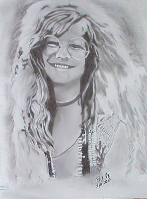 Janis Joplin Drawing - Like A Spring Rose by William Cox