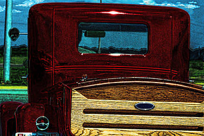 Photograph - Lil Red I Antique Pick Up Truck Art 2 by Lesa Fine