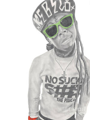 Lil Wayne Art Print by Michael Durocher