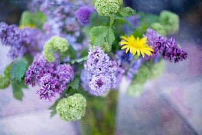 Lilacs In Vase 3 Art Print by Rebecca Cozart